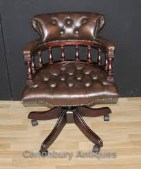 bedroommarvellous leather desk chairs office. Victorian Captains Chair Office Swivel Desk Chairs With Leather Bedroommarvellous
