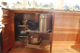Corner cabinet that maximizes space and accessibility traditional-kitchen