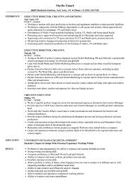 Creative Resume Sample Creative Executive Resume Samples Velvet Jobs 25