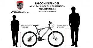 26 Mountain Bike Size Chart How Do I Know If A Bike Is The Right Size For Me Falcon