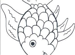 Fish Coloring Pages For Preschoolers Fish Coloring Page To Rainbow