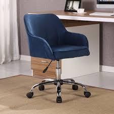 modern task chair. BELLEZE Modern Office Chair Task Desk Adjustable Swivel Height Velvet, Blue
