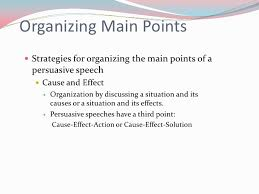 Organizational Patterns For Persuasive Speeches