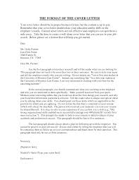 Format For Cover Letter Proper Cover Letter Best Examples Of Cover Letters Resume Template 22