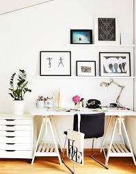 stunning chic ikea office. Beautiful Chic A Stylish Home Office With IKEA Glasholm Finnvard Table Looks Super Chic  Its Statement Sawhorse With Stunning Chic Ikea Office