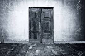 stock photo wide grunge vine background with old door empty room interior as backdrop