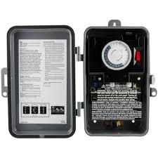 diy tork amp hour outdoor weatherproof plug mechanical timer box onoff beige lighting accessories electrical