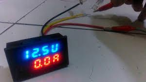 dual led digital voltmeter ammeter volt ampere tester