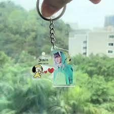 Móc khóa BTS chibi đồ thú trong suốt móc khóa acrylic keychain mica cute  đẹp dễ thương anime idol army