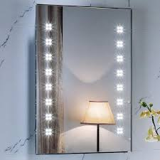 Lighted Wall Mirror for Makeup — Home Design