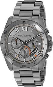 amazon com michael kors men s brecken gunmetal watch mk8465 michael kors men s brecken gunmetal watch mk8465