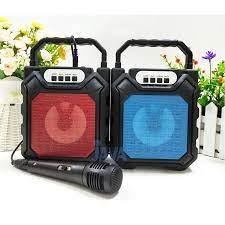 Loa bluetooth hát karaoke💝FREESHIP💝Mã YD 668 tặng kèm mic hát nghe nhạc  hát karaoke