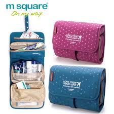 m square beautician travel cosmetic bag organizer toiletry makeup bag organizador wash make up bag bolsa neceser maquillaje case cosmetics india