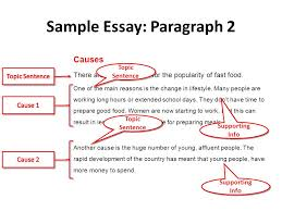 cause and effect essays cause and effect it s simple just four  sample essay paragraph 2 causes there are many reasons for the popularity of fast food