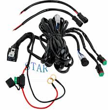 good quality automotive wire harness supplier star electronic car double light bar wiring harness