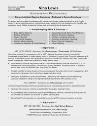 Housekeeping Resume Sample Monster Invoice And Resume Ideas
