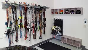 garage ski snowboard rack designs