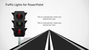 Led Traffic Lights And Road Slide Design For Powerpoint Slidemodel