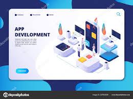 App Developer And Designer App Development Concept Developer Designer Work On