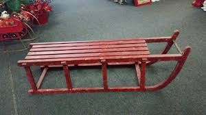 vintage red sled 63 in l x 16 in w x 19 1 4 in t 1 available