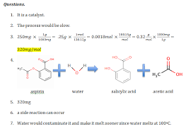 synthesis of acetylsalicylic acid synthesis of aspirin introduction acetylsalicylic acid is absorbed from the intestine