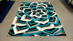 Black and turquoise rug Circles 79 Modern Black White Gray Turquoise Blue Design 5x8 Area Rug Carpet New modern Pinterest Modern Black White Gray Turquoise Blue Design 5x8 Area Rug Carpet