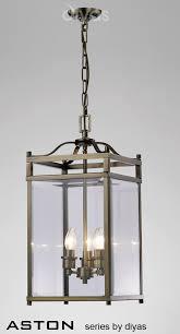 light pendant lantern antique brass