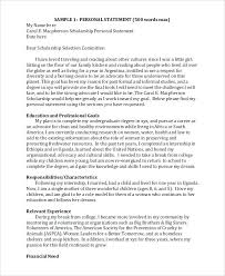 Personal Statement Outline How To Write A Scholarship Essay Example Of Career Goals Essays