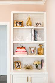 office bookshelf. Home Office Sneak Peek // Bookshelf Styling | The Style Scribe L