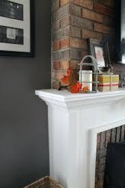 diy rustic fireplace mantel shelf faux barn beam