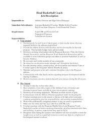 How To Write A Coaching Resume Basketball Coach Resume Resume Templates 23