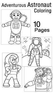 Download Coloring Pages: Astronaut Coloring Pages Spaceship ...