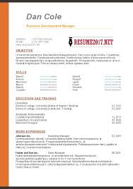 Microsoft Word Resume Templates 2017