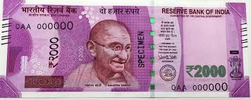 Image result for 2000 rupee note indian