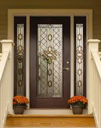single front doors with glass. Great Design Beveled Glass Home Entry Door Featuring Dark Brown . Single Front Doors With