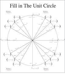 Unit Circle Sin Cos Tan Chart Unique Unit Circle Chart Mwb Online Co