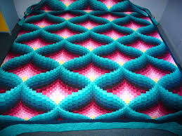 Twisted Bargello Quilt Pattern Free