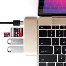 <b>Satechi</b> Aluminum Type-C USB 3.0 <b>3</b>-in-1 <b>Combo Hub</b> with USB-C ...