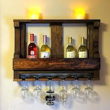 wooden wine rack wine glass rack wall wine rack image 0 wall wine glass storage