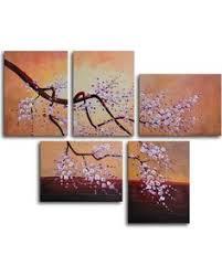 oriental blossom canvas wall art