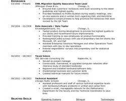 Qa Tester Resume New Add Testing Sample Michaelwillow Com