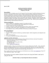 Mechanic Resume Diesel Mechanic Resume Nardellidesign 67