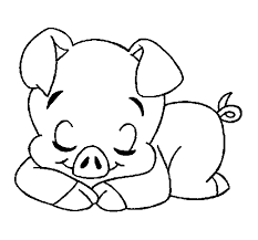 Small Picture Cute Pig Coloring Pages To Print Animal Coloring pages of Clip