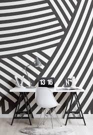 Black And White Mural Design Dazzle Camouflage Wallpaper Dazzle Pattern Decor Murals
