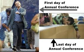 First and last day of Annual Conference - United Methodist Memes ... via Relatably.com