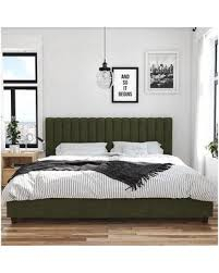 Upholstered platform bed frame White Novogratz Brittany Upholstered Platform Bed 419049n Size Queen Color Green Wirecutter Cant Miss Deals On Novogratz Brittany Upholstered Platform Bed