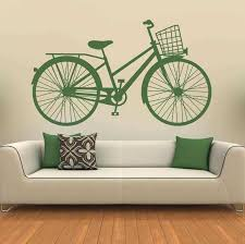 >bicycle wall decor inspirational bicycle classic basket wall art  bicycle wall decor inspirational bicycle classic basket wall art sticker wall decals