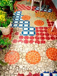 best 25 painted concrete patios ideas on