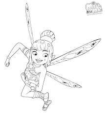 Mia And Me Coloring Page The Pretty Elf Yuko Get Coloring Pages