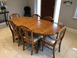 dining room table and chairs gumtree glasgow